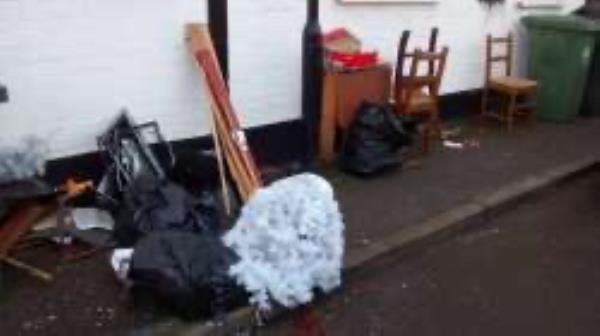 Please clear flytip-12 Malyons Terrace, Lewisham, SE13 7XJ
