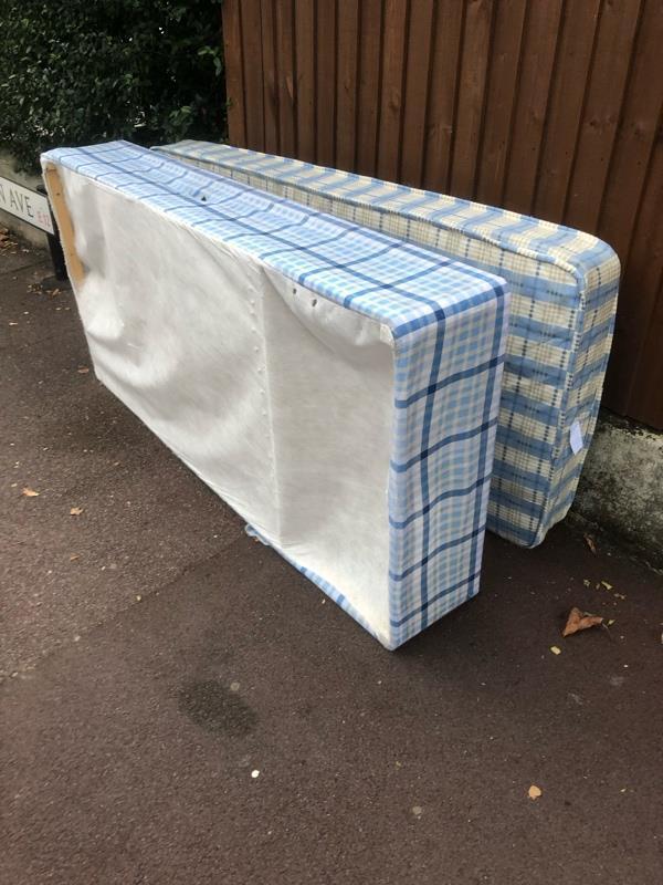 2 single mattresses-152 Rosebery Avenue, London, E12 6PS
