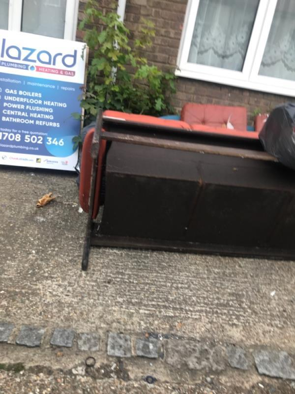 Front yard in this state for months -56 Tower Hamlets Road, London, E7 9BZ