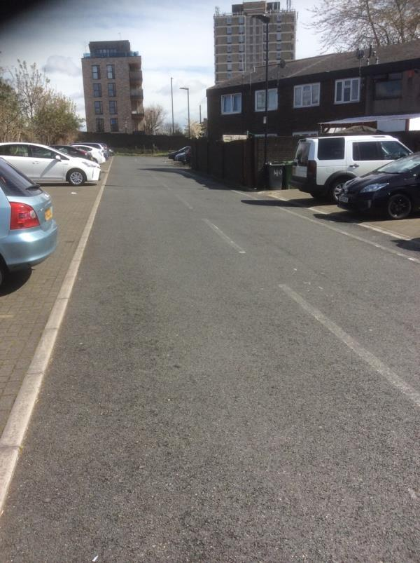 Rea of Rawstone Walk E 13 no  40 Parking bays image 2-21 Plaistow Park Road, London, E13 0SA