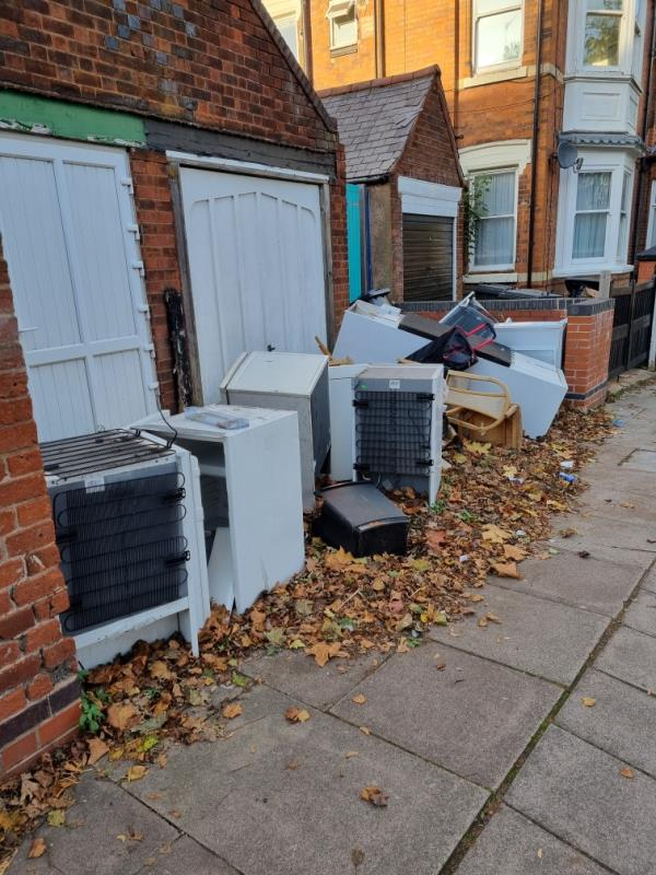 Flytipping -38 Evington Road, Leicester, LE2 1GB