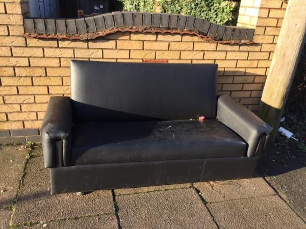 This has been outside this house for several weeks. This has happened before too. Please can it be removed. Thank you. -49 Stoughton Drive North, Leicester, LE5 5UD