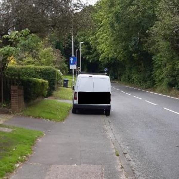 vehicle blocking footpath-139 Imberhorne Lane, East Grinstead, RH19 1RP