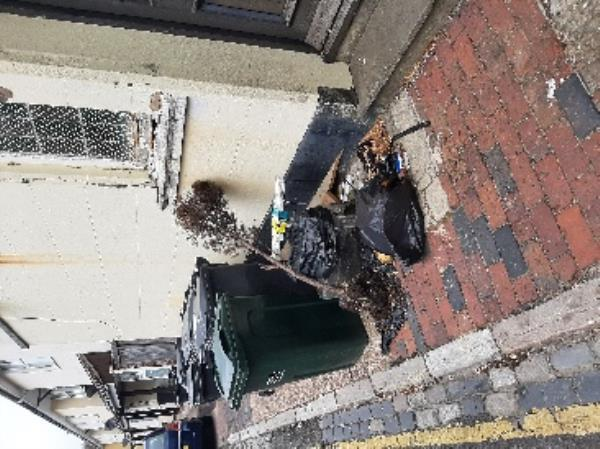 Can someone clèar flytipped items from side of ship PH Leslie street.  Regards  Gary Batchelor senior advisor neighbourhood first-Kings Arms, 222 Seaside, Eastbourne, BN22 7QX