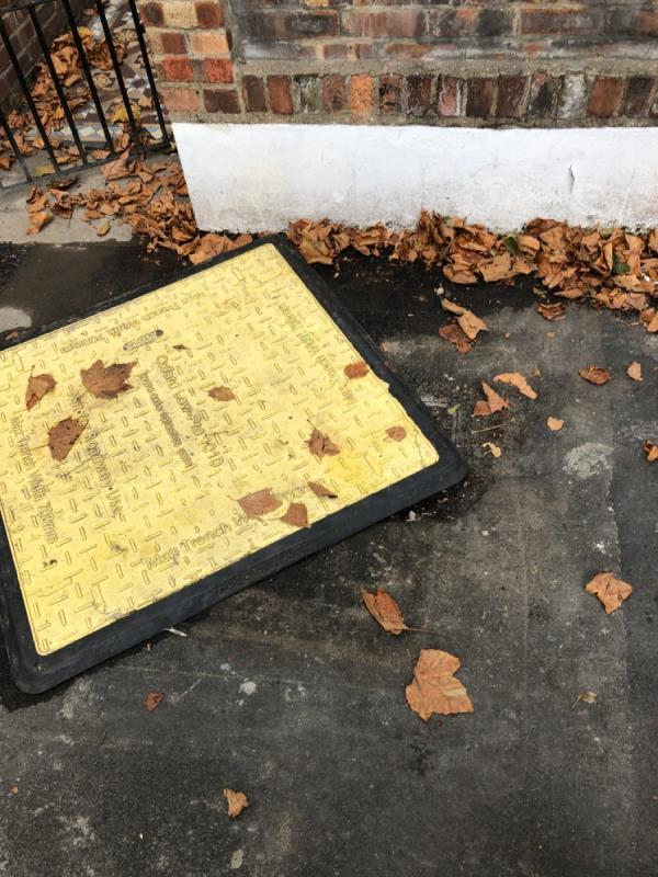 Uneven pavement covering electric point -6 Mitcham Rd, London E6 3HP, UK