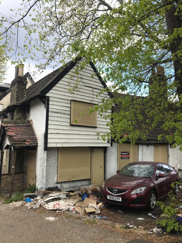 Can you please clear out all fly tipping at this Grade 2 listed site please? Thanks-212 Upton Lane, London, E7 9NP