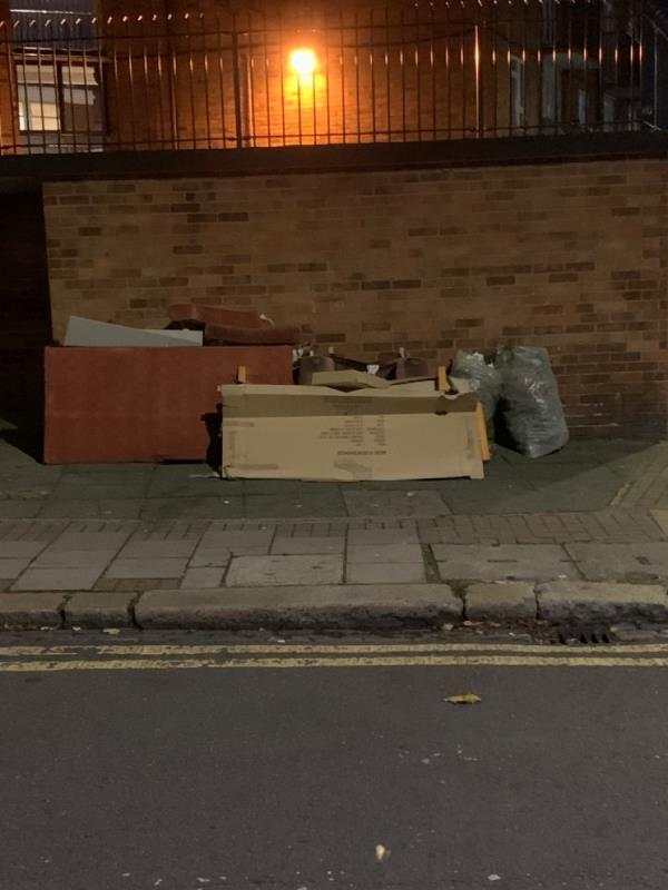 This location has been reported to yourselves at least 5 times this year. I even confronted a woman, who then said everyone else does so it makes it ok.  This council is a joke...-7 Swete Street, Plaistow, E13 0BU