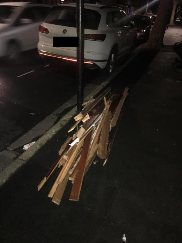 As per weekly flytipping update-151 Boundary Road, London, E13 9QF