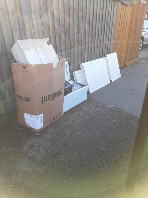boiler and radiator dumped on Morley Avenue junction with Lordship Lane N22-533 Lordship Lane, London, N22 5DN
