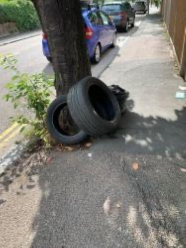 Junction of Vauncover Road. Please clear tyres-50 Carholme Road, London, SE23 2HS