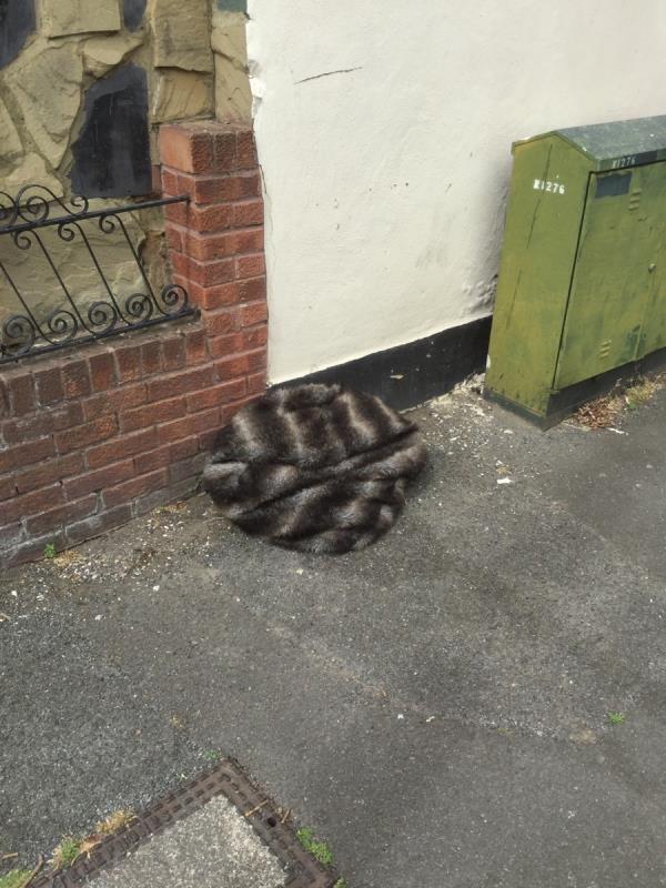 Side of 19 discarded coat -19 Randolph Approach, London, E16 3HU