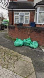 GEL filled three bags of street rubbish on WEDNESDAY 18 NOVEMBER at 930am. They have not been collected despite me sending a request yesterday on LoveCleanStreets for them to be removed.  Does this report system work?  image 1-31 Verulam Road, Greenford, UB6 9RH
