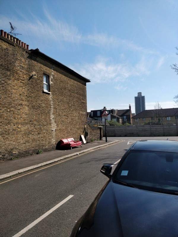 flytipping at Albert Square off Forest Lane E15-Basle House Albert Square, London, E15 1HH