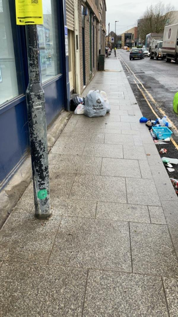 general waste on pavements and road-1 The Crescent, London, UB1 1BE