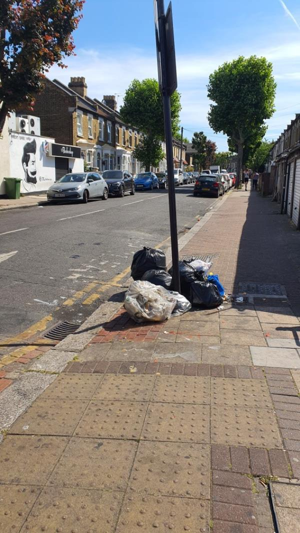 pile of bags. HENDERSON ROAD-71 Green Street, London, E7 8JF
