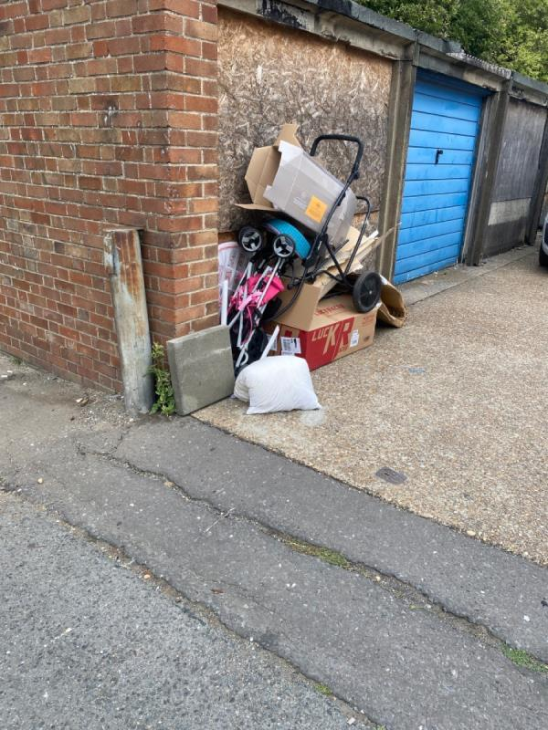 Various items dumped -29 Bothwell Close, Canning Town, E16 1QS