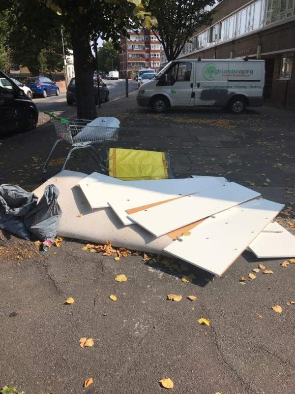 More fly tipping on this corner!  Wandsworth council are encouraging this illegal behaviour -Meecham Court Shuttleworth Road, London, SW11 3DX