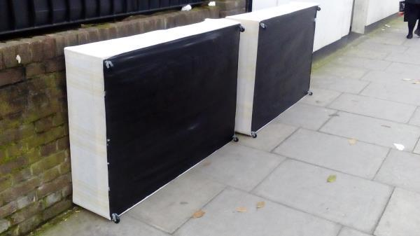 2 beds dumped on the street outside 2 Gladesmore Road, N15-2 Gladesmore Road, N15