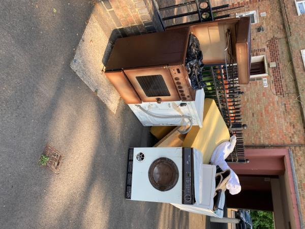 There are appliances that have been left by the side of the road for two weeks-23 Marcus Street, London, E15 3JT