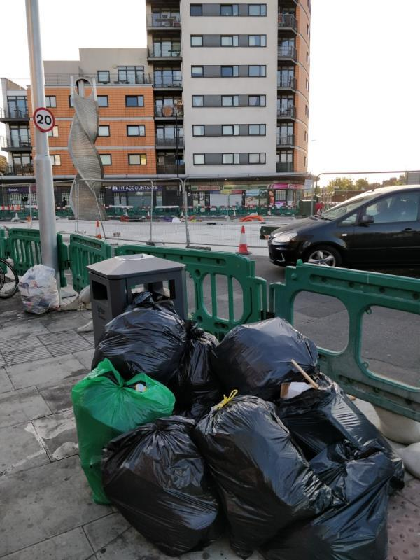 Flytipping beside 51 Leytonstone Road E15-51 Leytonstone Road, London, E15 1JA