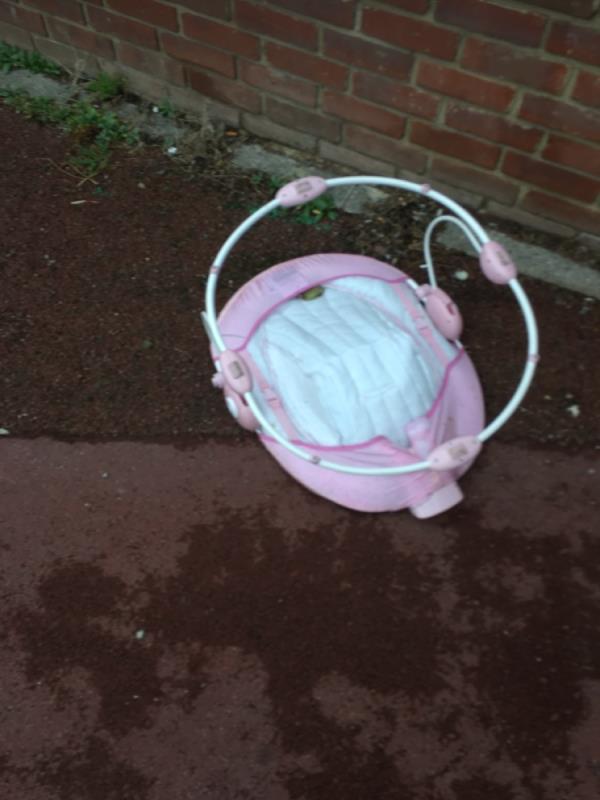 Rubbish dumped -16-18 Snowshill Road, Manor Park, E12 6BB