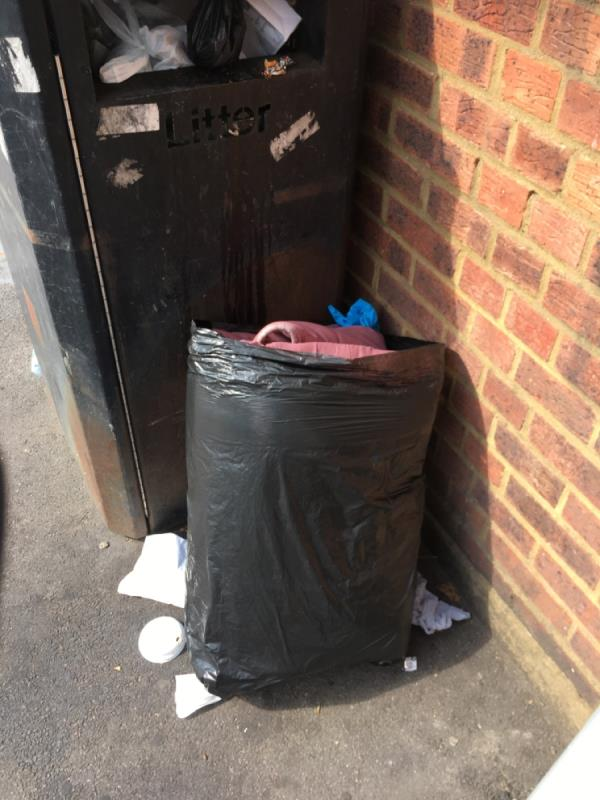 Bin over flowing -220 Browning Road, Manor Park, E12 6NU