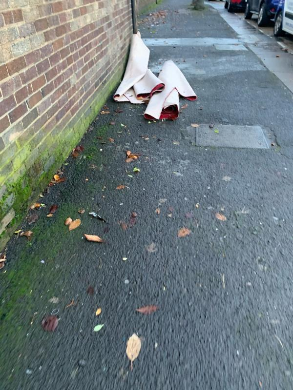 Carpet in kelland road needs picking up ASAP -2 Kelland Road, London, E13 8DS