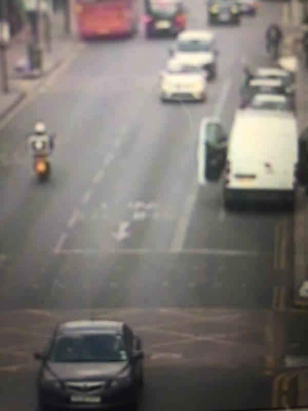 Location is Green Lanes / Warham Road N4 - ahead only arrow and text faded-513 Green Lanes, London, N4 1JX
