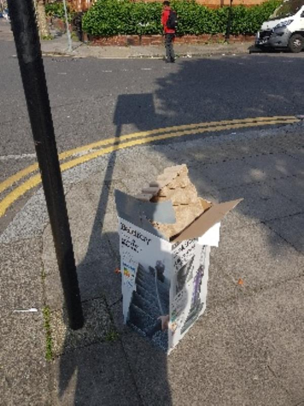 dumped rubbish fly tipping corner of russell ave and lymington ave-60 Lymington Ave, Noel Park, London N22 6JG, UK
