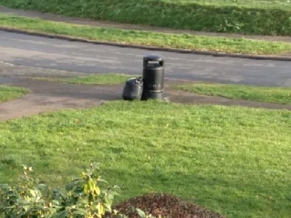 fly tipping by the litter bin between Portland gardens and lansdowne road again. -31 Portland Gardens, Reading, RG30 4QH