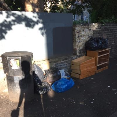 Usual dumping navarino rd  -51 Wilton Way, London, E8 1BG