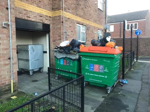 Rubbish not collected.  -15 Major Road, London, E15 1EF