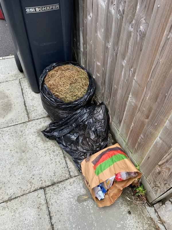 More rubbished dumped. Even attempted to remove address but didn't do it very well as still readable  image 1-30b Don Close, Reading, RG30 4YL