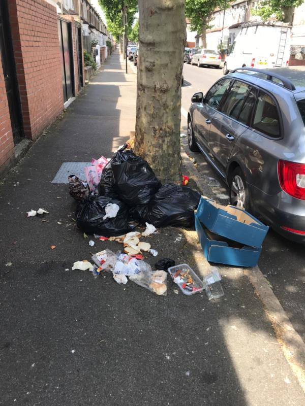 Bags, split household wAste, boxes, toys etc-160 Rosebery Avenue, London, E12 6PS