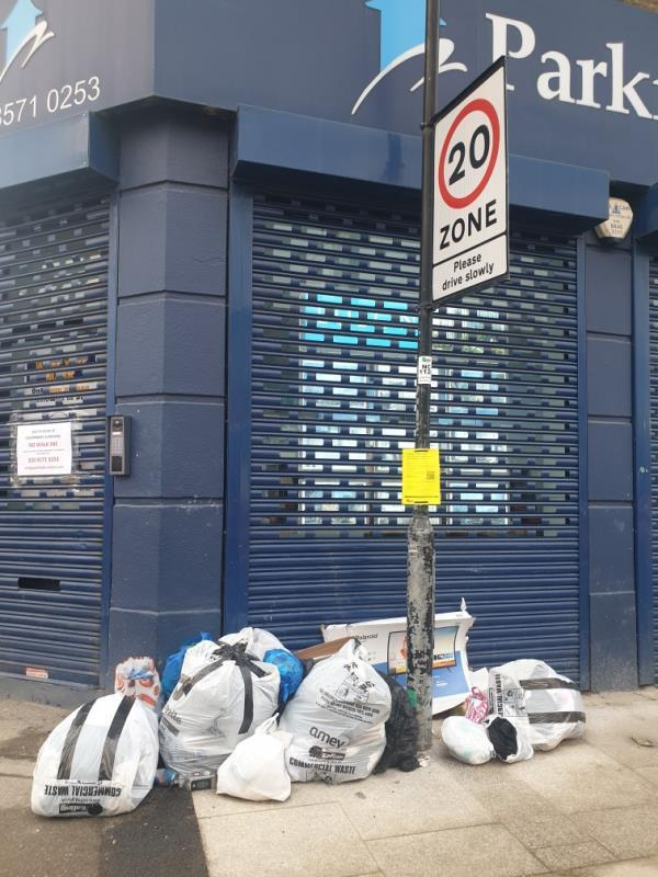 bags of waste-1 The Crescent, London, UB1 1BE