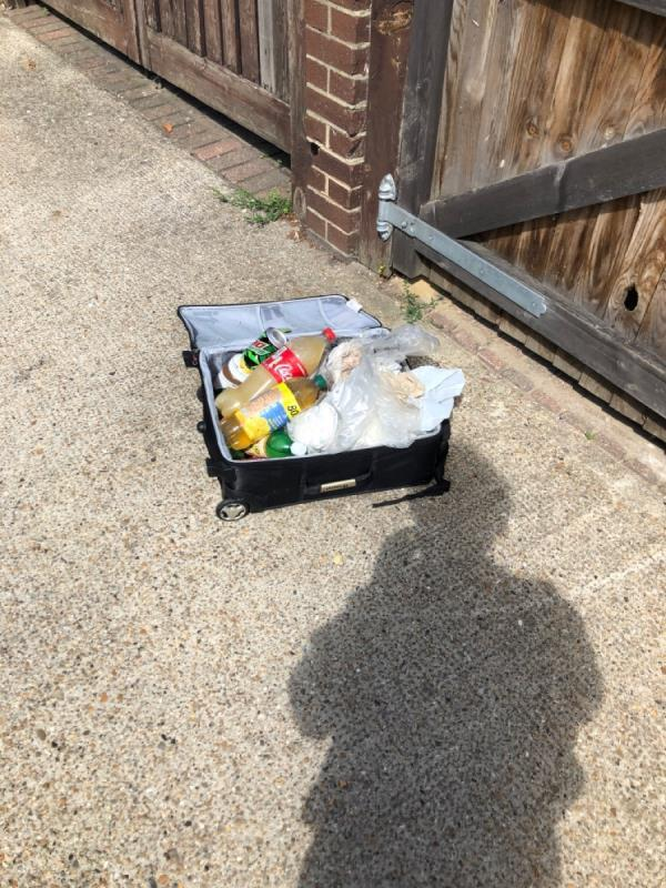 Suitcase full of rubbish -2 Brownlow Road, London, E7 0EZ