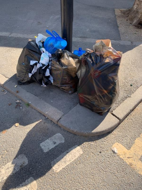 Litter and rubbish dumped at this spot everyday can you investigate why this happens and put a stop to it -51 Woodgrange Road, London, E7 8BA