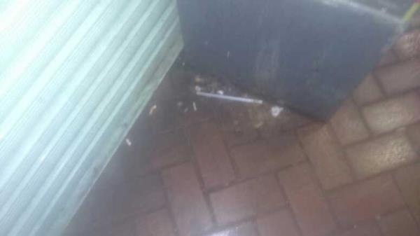 vomit in the corner -23 Friar Street, Reading, RG1 1DP
