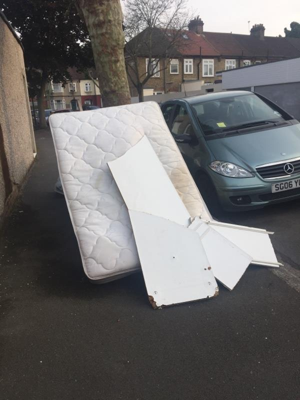 Fly tipping -78 Eustace Road, London, E6 3ND