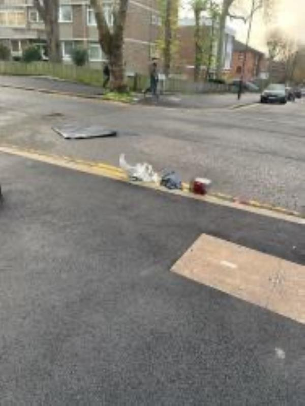 Junction of South Road. Please clear broken sink-26 Church Rise, London, SE23 2UD