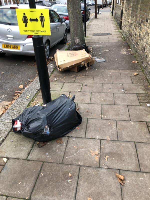 Always needs to cleaned at this spot Kids walking up and downs and walking though this mess everyday. -48 Henderson Road, Upton Park, E7 8EF