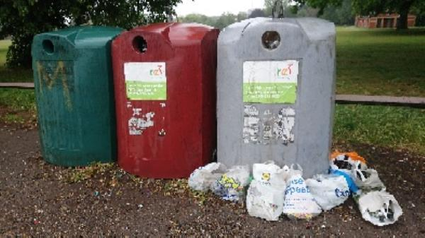 Bottle banks full needs to be emptied cleared excess bottle s -500 Basingstoke Road, Reading, RG2 0QN