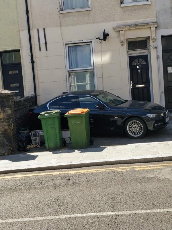 Flytipping in front of 67 Water Lane E15-67 Water Ln, London E15 4NL, UK