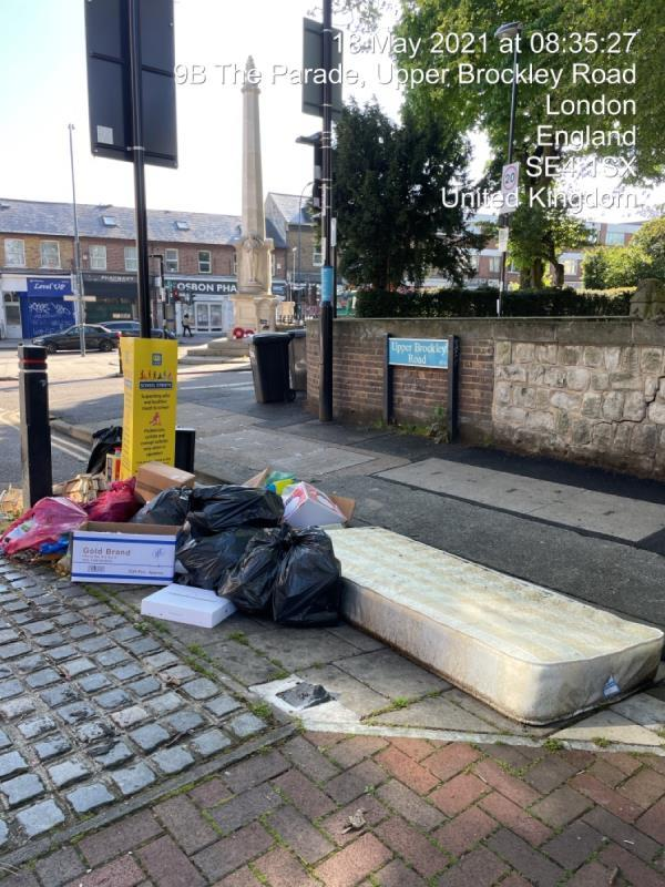 Constant fly-tipping here-11 Upper Brockley Road, Honor Oak Park, SE4 1UU