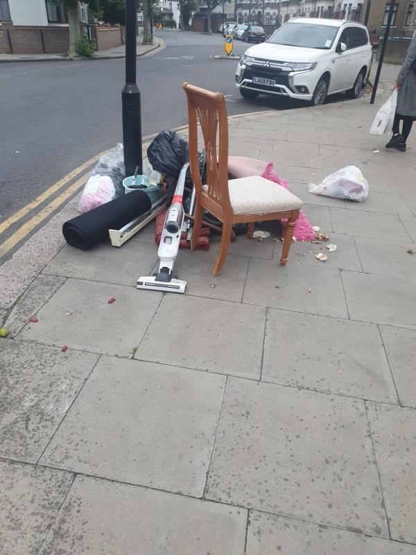 household waste opposite 98 central park road-98 Central Park Road, East Ham, E6 3DY