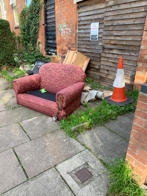 Fly tipping -105 Harrow Rd, Leicester LE3 0JY, UK