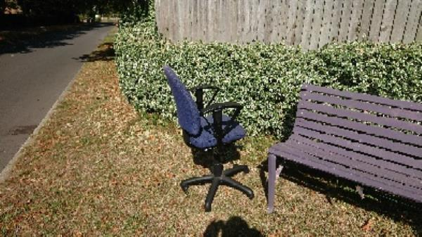 removed fly tipped office chair from grass verge -4 Chalgrove Way, Reading, RG4 8SJ