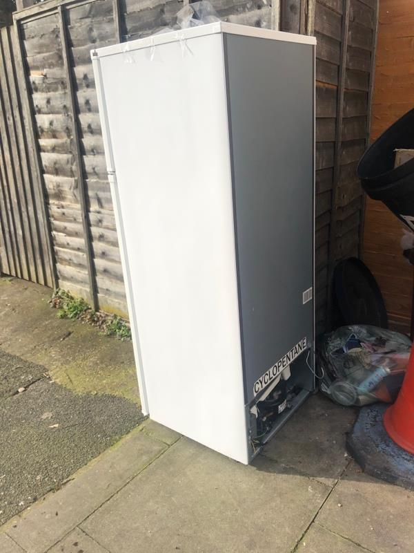 Abandoned fridge -15 Leagrave Street, London, E5 9QX