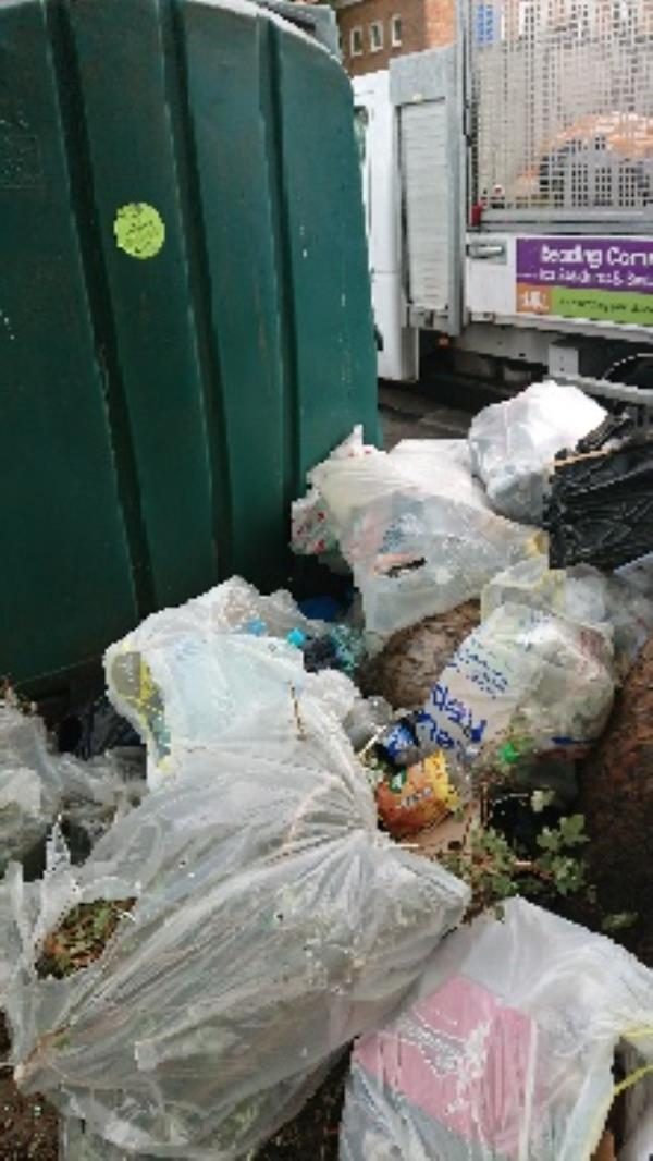 House old waste investigation needed before removal. Discarded bottles removed -1a Norfolk Road, Reading, RG30 2TD