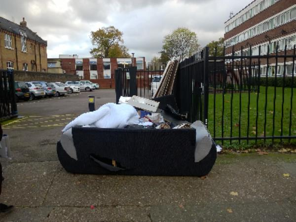 sofa, carpet, duvet, worderobe-Joseph Lister Court Upton Lane, London, E7 9PS